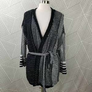 Chicos Size 4 XXL open Belted Cardigan Sweater